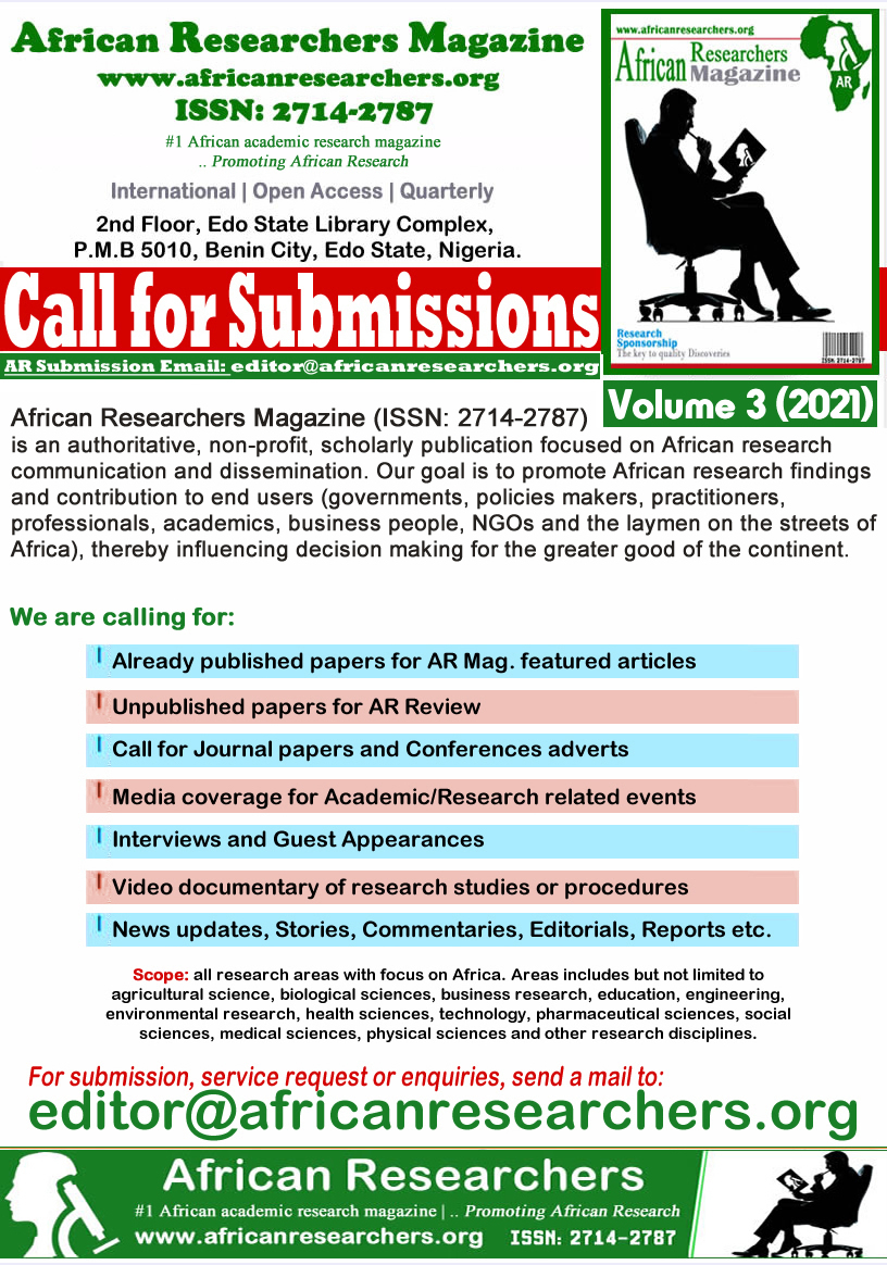 AR Magazine Call for Submission