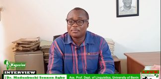 AR Interview with Ass. Prof. Maduabuchi Sennen Agbo
